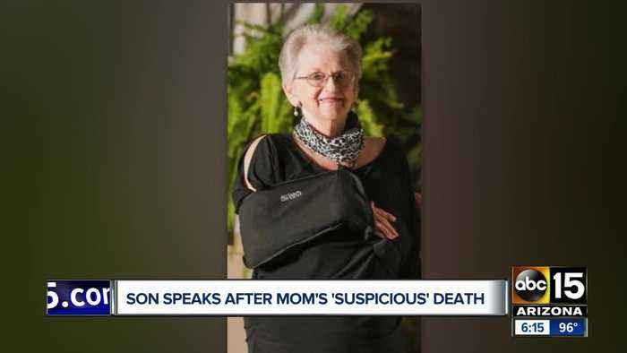 Son speaks out after mom's 'suspicious' death