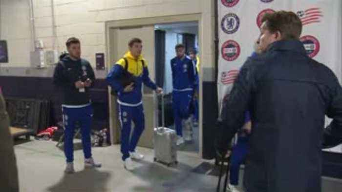 Loftus-Cheek on crutches after friendly