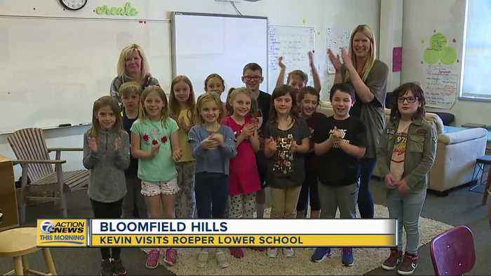 Kevin visits Roeper Lower School in Bloomfield Hills