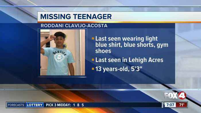 13-year-old Roddani Clavijo-Acosta reported missing in Lehigh Acres