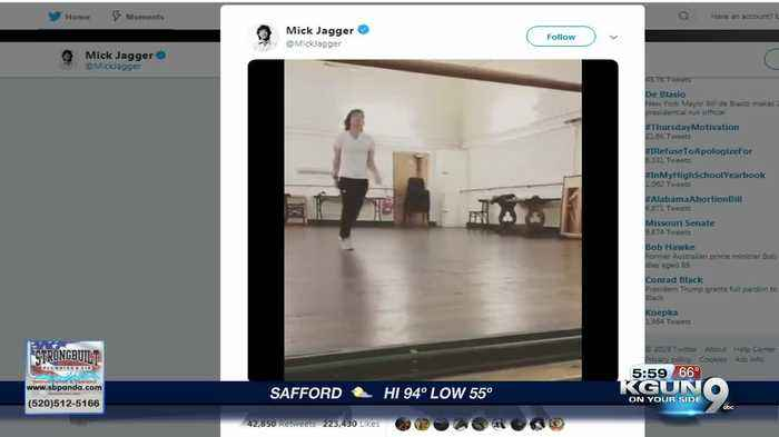 Mick Jagger shows his moves after heart surgery in new video