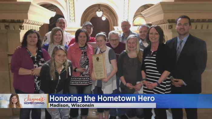 Jayme Closs Honored as 'Hometown Hero' In Madison