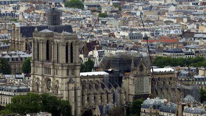 A swimming pool? Car park? People pitch designs for Notre Dame's roof