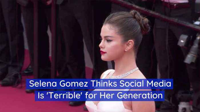 Selena Gomez Shares Her Opinion On Social Media