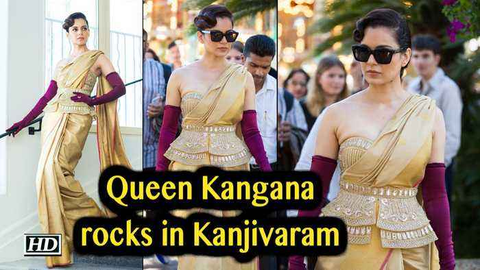 CANNES 2019: Queen Kangana Ranaut rocks in Kanjivaram saree