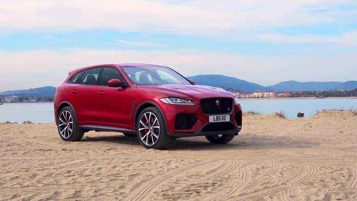 Jaguar F-PACE SVR 550PS AWD Design in Firenze Red