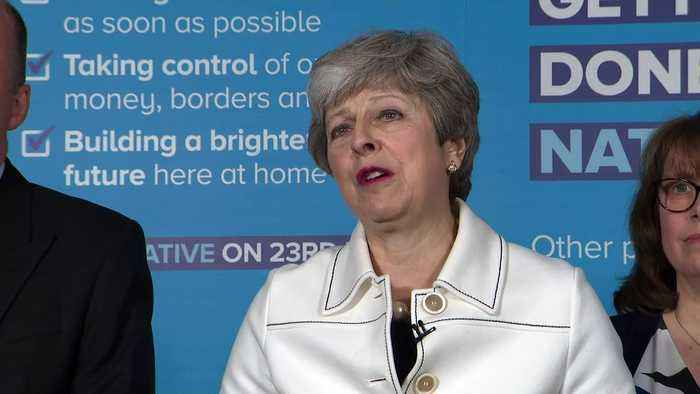 Theresa May explains why cross-party Brexit talks failed