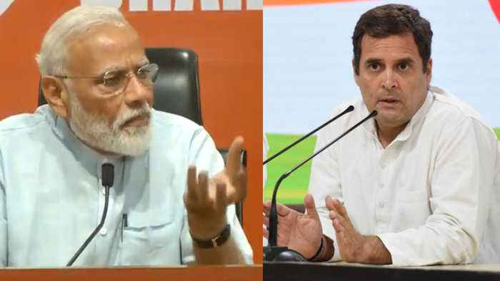 PM Modi's first press conference, Rahul did LIVE counter, Watch Video | Oneindia News