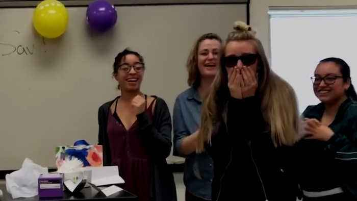 Classmates Surprise Student With Colorblind Glasses