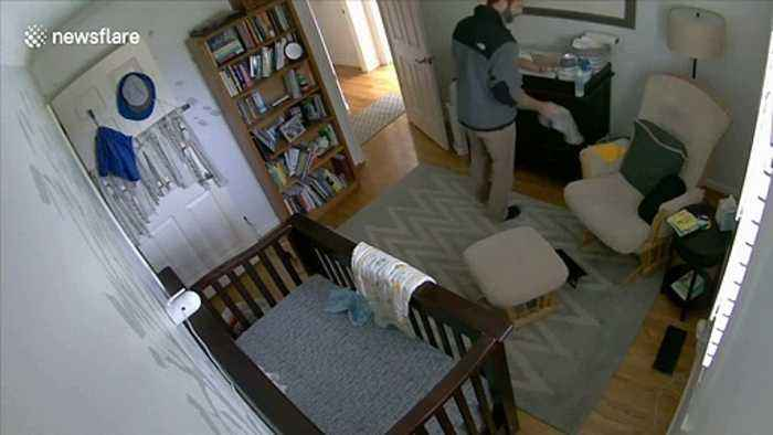 Quick-thinking US dad catches 11-month old son after he falls from chest of drawers