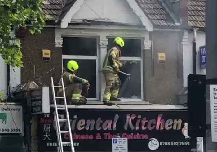 Firefighters Tackle Blaze at Takeaway Restaurant in North London