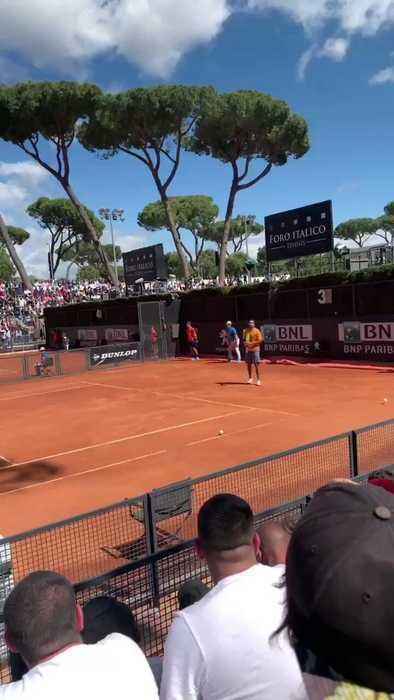 Tennis Player Nick Kyrgios Throws Chair and Storms Off Court at Italian Open
