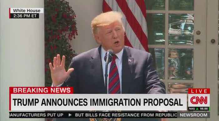 Trump unveils new immigration plan in White House Rose Garden