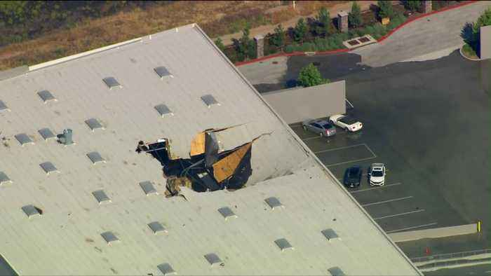 F-16 Fighter Jet Crashes into Building in California; Pilot Ejects