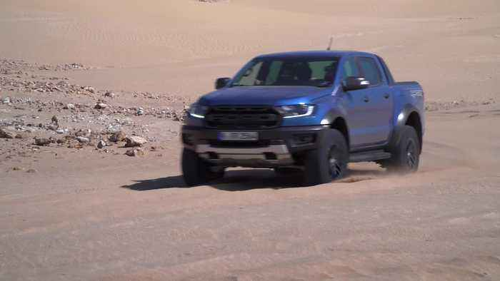 The new Ford Raptor Driving in Marroco