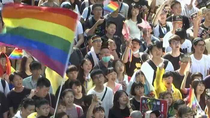 Taiwan becomes first Asian nation to legalise same-sex marriage