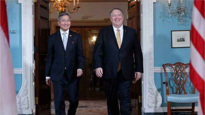 Hong Kong Pro-Democracy Leader Introduced To Pompeo
