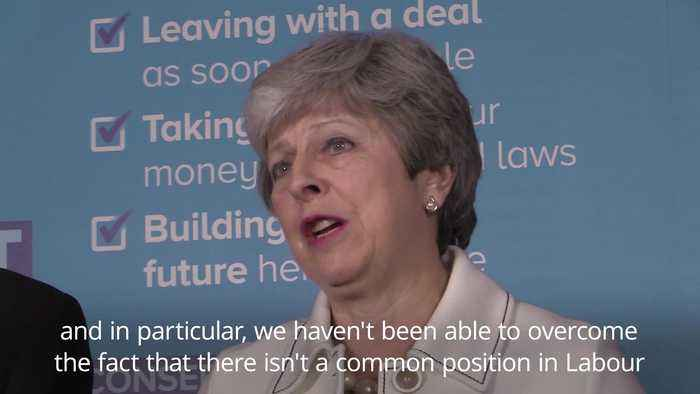Theresa May questions Jeremy Corbyn's commitment to delivering Brexit
