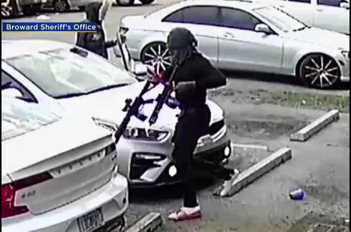 WEB EXTRA: Surveillance Cameras Capture Chaotic Armed Robbery Outside Lauderdale Lakes Liquor Store