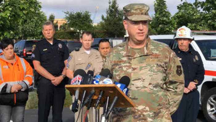 Military, Cal Fire and Caltrans address F-16 crash and its aftermath