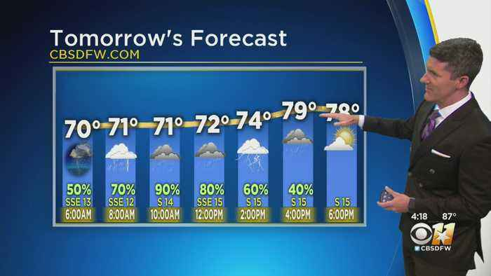 Nice Friday Evening, Storms Likely In Metroplex Saturday