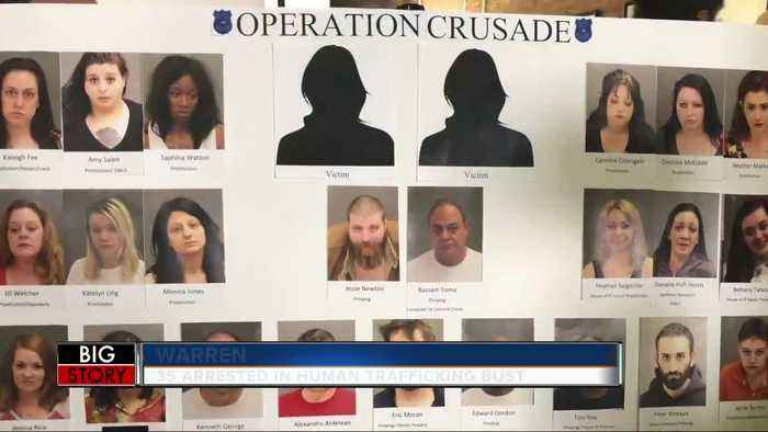 35 people arrested as part of human trafficking sting in Warren