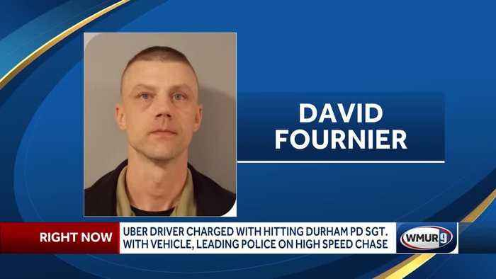 Uber driver accused of hitting police sergeant with vehicle