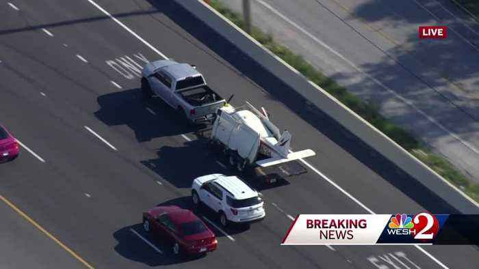 Crews remove plane from on-ramp