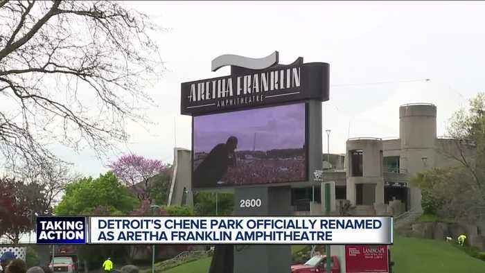 Detroit's Chene Park is now officially the Aretha Franklin Amphitheatre