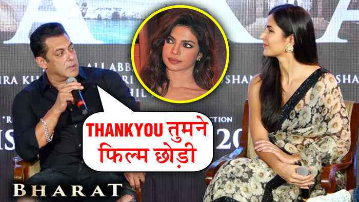 Salman Khan TAUNTS Priyanka Chopra In Public For Leaving Bharat