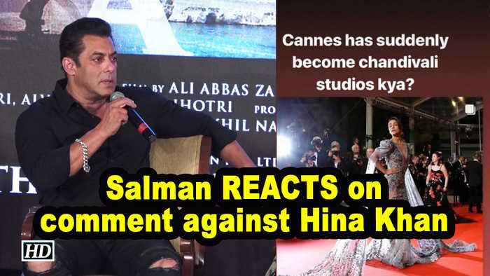 Salman REACTS on 'Chandivali to Cannes' comment against Hina Khan