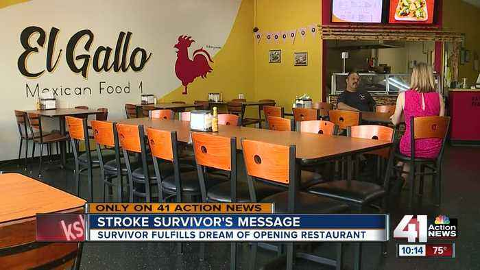 Stroke survivor realizes dream of opening restaurant