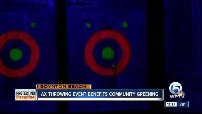 Ax throwing event benefits community greening