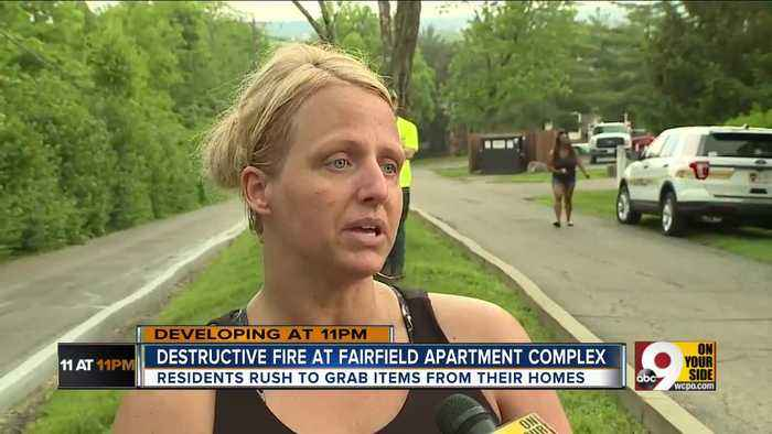 'Get what you can and that's it': Fire consumes Fairfield apartment complex