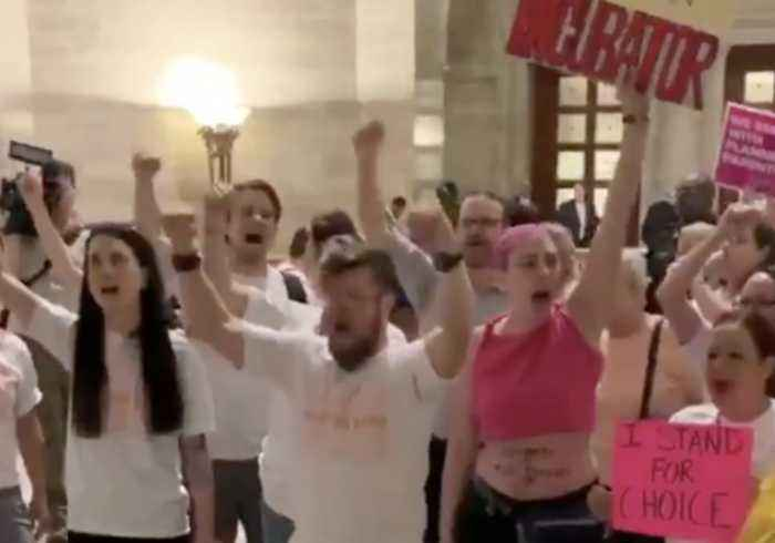 Pro-Choice Activists Swarm Missouri State Capitol to Protest Abortion Ban