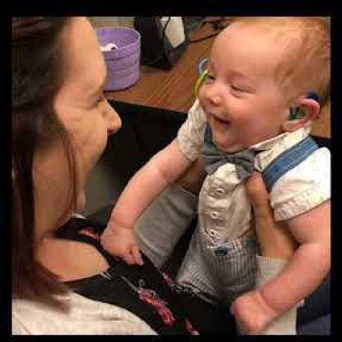 Deaf Baby Gets Hearing Aids and Hears Mom's Voice for the First Time