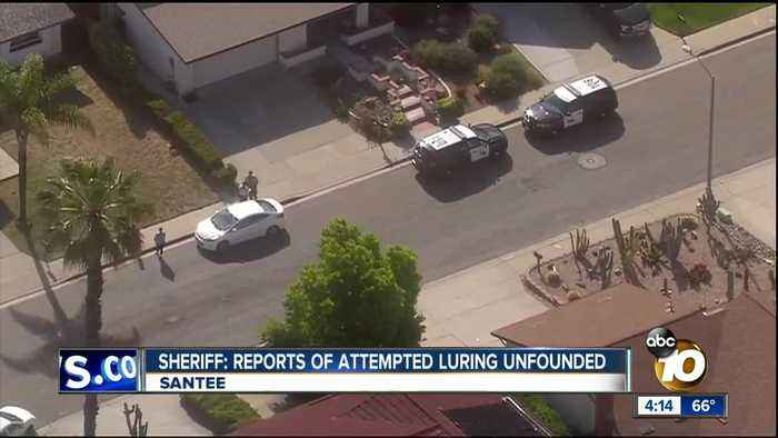 Sheriff: Reports of attempted luring in Santee unfounded