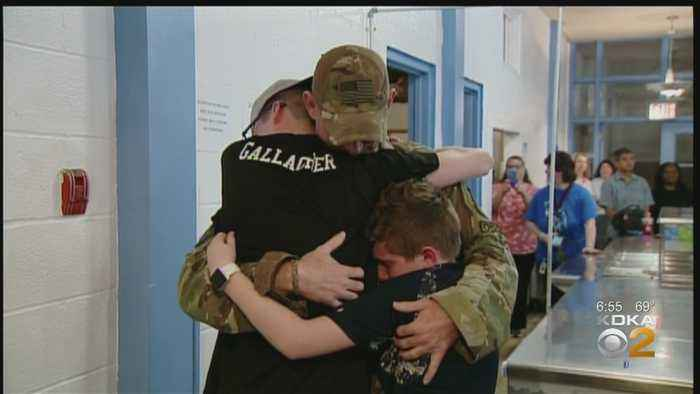 Military Father Surprises Sons With Secret Homecoming After 6-Month Deployment