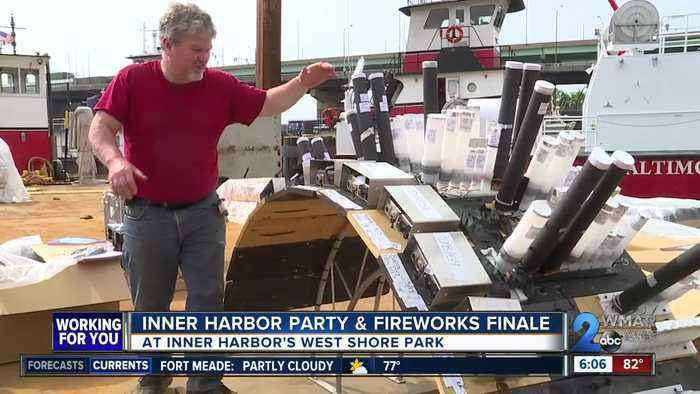 Baltimore celebrates Preakness with Inner Harbor party and fireworks finale