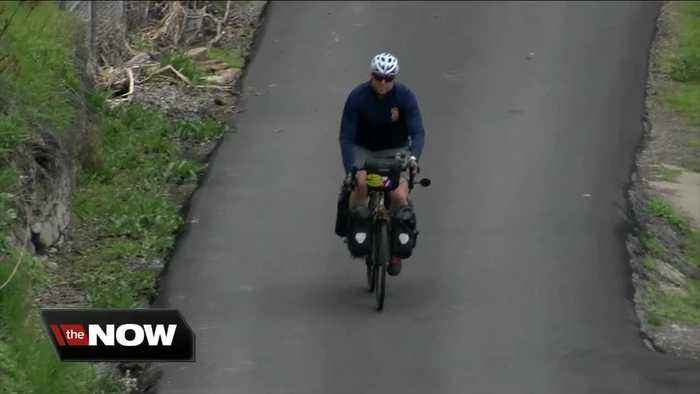 Retired firefighter hits the road on his bike to raise money for a local charity