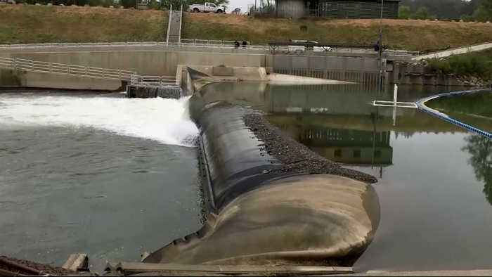 Inflatable Dam on Russian River Lowered to Prevent Damage