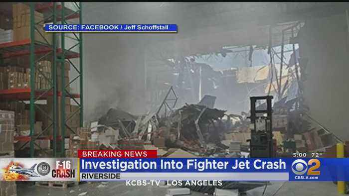 'Armament Package' Secured In F-16 Fighter Jet Crash; Portion Of 215 Freeway Closed Indefinitely