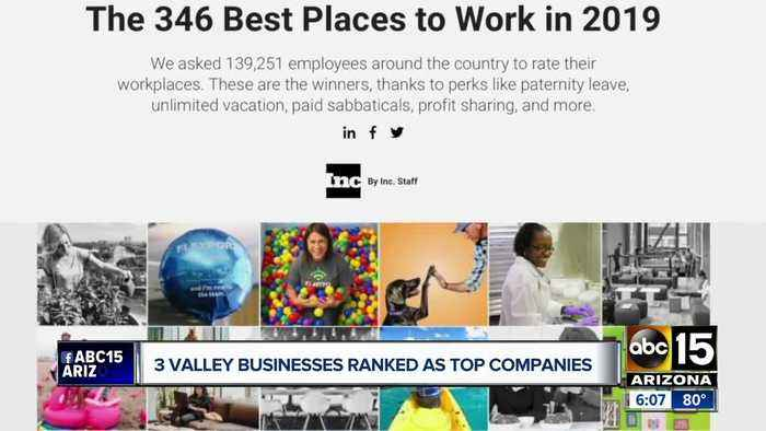 Several Valley businesses ranked as top companies to work for