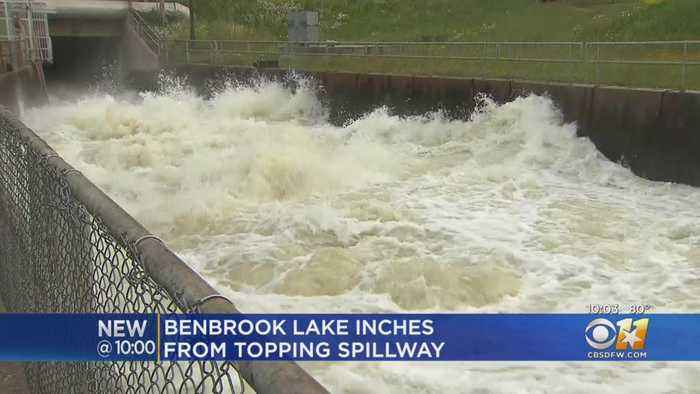 Benbrook Lake Is Close To Topping The Spillway