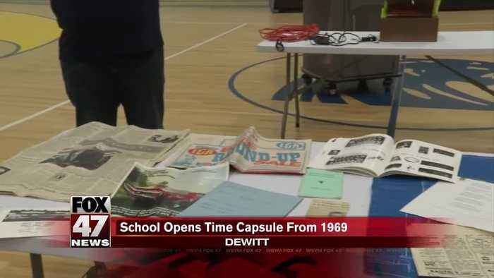 Local elementary school goes back in time with 1969 time capsule