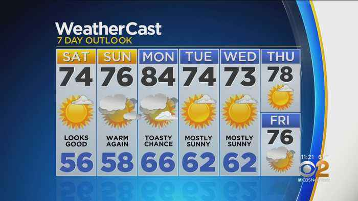 New York Weather: CBS2 5/17 Nightly Forecast at 11PM