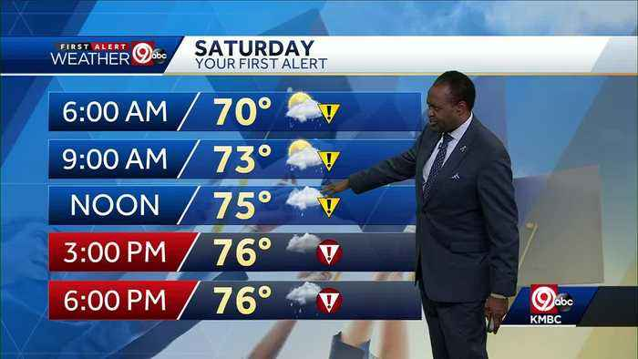 Rain, storms ahead for your Saturday