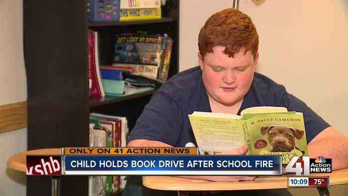 12-year-old boy donates 1,000 books to fire-damaged Missouri school