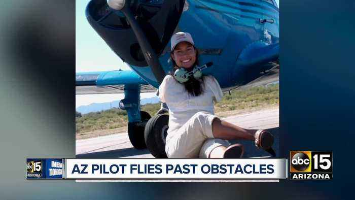 Arizona woman becomes first licensed pilot without arms