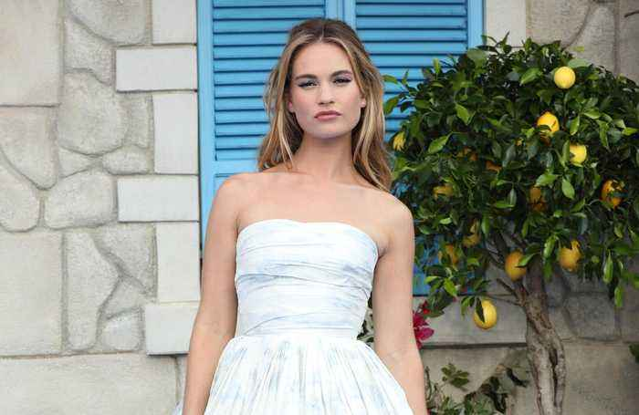 Lily James worries about being typecast